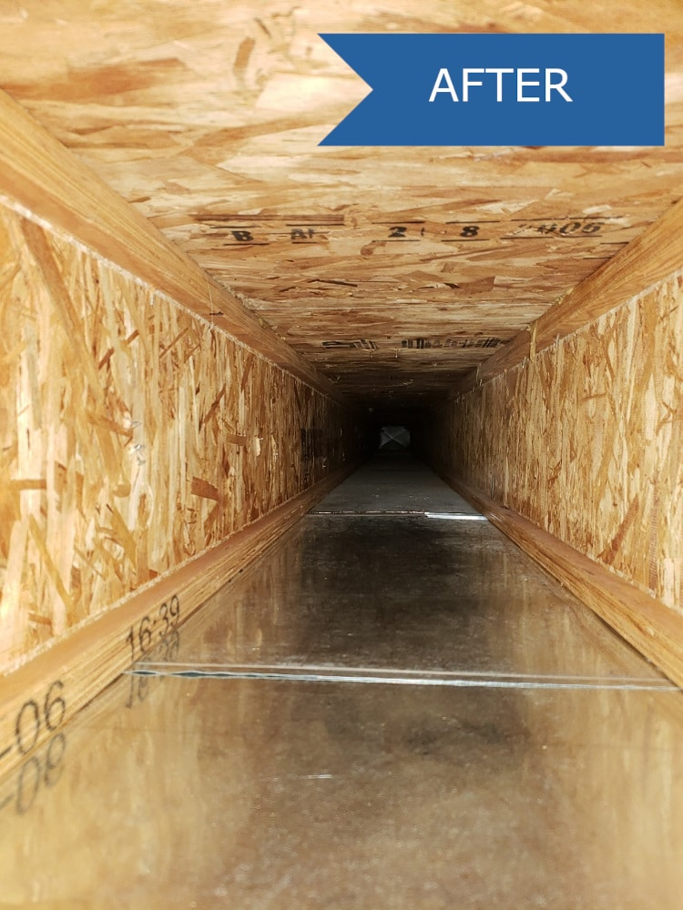 Air Duct Trunk Line cleaned with air duct cleaning in Colorado Springs